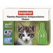 PIPETTE REPULSIVE ANTIPARASITAIRE CHATON VETONATURE