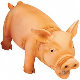 COCHON EN LATEX ORANGE au rayon Chiens, Jouets - Latex